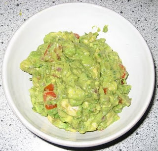 Guacamole with roasted vegetables